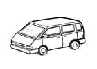 Målarbild minibuss
