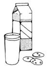 Målarbild mjölk