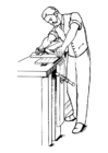 Målarbild möbelsnickare