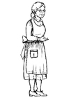 Målarbild mormor - farmor