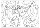 Målarbild Moses öppnar Röda havet