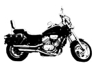 Målarbild motorcykel - Honda magna