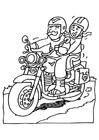 Målarbild motorcykel