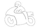 Målarbild motorcyklist