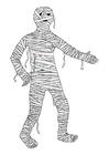 Målarbild mumie