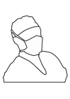 Målarbild munskydd