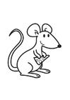 Målarbild mus med ost