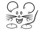 Målarbild mus