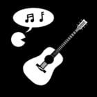 Målarbild musik - sÃ¥ng och instrument