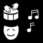 Målarbild musik - uttryck