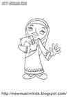 Målarbild muslimsk flicka