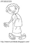 Målarbild muslimsk pojke