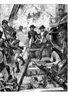 Målarbild Nelson vid Trafalgar