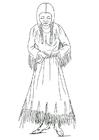 Målarbild Nimiipu-kvinna
