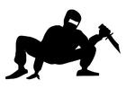 Målarbild Ninja