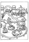 Målarbild nöjespark