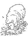 Målarbild nyfött lamm