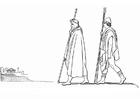Målarbild Odysseus - Minerva ankommer till Pylos