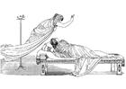 Målarbild Odysseus - Minerva och drottningen