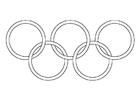 Målarbild olympiska ringarna
