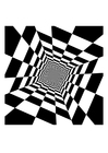 M�larbilder optisk illusion