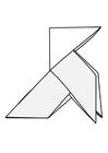 Målarbild origami - fÃ¥gel