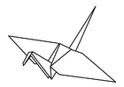 Målarbild origami