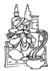 Målarbild ormtjusare