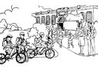 Målarbild pÃ¥ väg till skolan - grundskolan