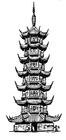 Målarbild pagod