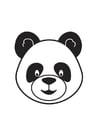 Målarbild pandans huvud