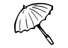 Målarbild parasoll