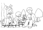 Målarbild picknick