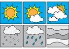 Målarbild piktogram - väder 2