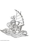 Målarbild pirat 2