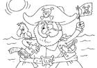 Målarbild pirat