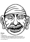 Målarbild Piratmask