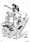 Målarbild piratskepp