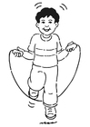 Målarbild pojke