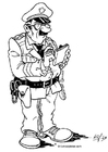 Målarbild polis