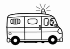 Målarbild polisbuss