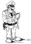 Målarbild poliskonstapel