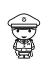 Målarbild polisman