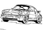 Målarbild Porsche 911 Turbo
