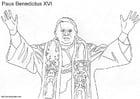 Målarbild Poven Benedikt XVI