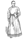 Målarbild präst