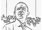 Målarbild President Barack Obama