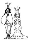 Målarbild prins och prinsessa