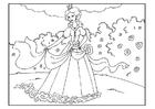Målarbild prinsessa i trädgÃ¥rden