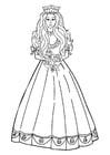 Målarbild prinsessa med blommor